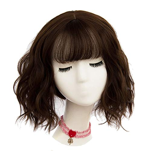 43 colors Synthetic Short Wavy BOB Wigs Womens Brown Black Natural Wigs Heat Resistant Fiber,AS 05 -