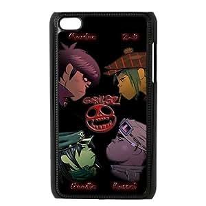Merry Christmas Cartoon Version Gorillaz Ipod Touch 4 Case, Best Durable Gorillaz Ipod 4 Case hjbrhga1544