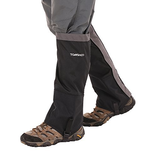 TOMSHOO Snow Leg Gaiters Lightweight Waterproof Breathable High Gaiters for Climbing Skiing Hiking Hunting by TOMSHOO
