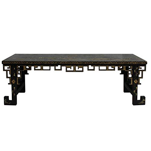 - Chinese Lacquered Song Ming Style Low Kang Table Zither Stand Acs5113
