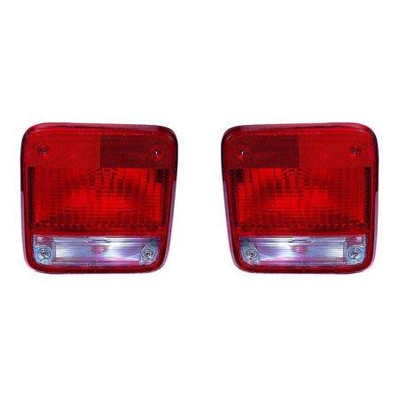 Fits Chevrolet/GMC Van 85-1996 Tail Light Unit Pair Driver and Passenger Side (G20 Lens)