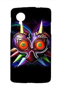 The Legend of Zelda : Majora's Mask Game Snap on Plastic Case Cover Compatible with LG Google Nexus 5 N5