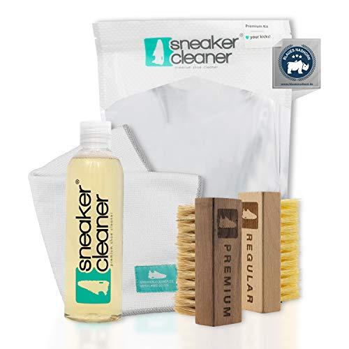 Sneaker Cleaner - kit de nettoyage pour chaussures, 250ml d'agent nettoyant avec 2 brosses pour matériaux sensibles et… 1