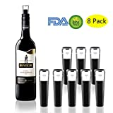 wooniker Vacuum Wine Bottle Stoppers,Reusable Wine Bottle Corks,Wine Pump Beverage Bottle Stopper for Champagne and Wine Saver