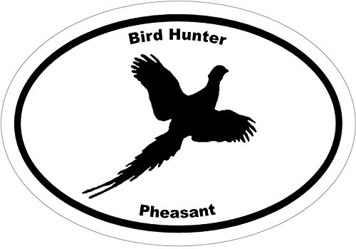 Pheasant Bird Hunting Vinyl Decal Sticker - Great for Truck Car Bumper or Tumbler - Perfect Husband Fathers Day Bird Hunter Outdoor Lover Gift, Made in the USA