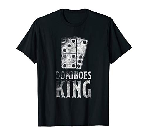 Dominoes King T-Shirt Best Domino Player Gifts Tee Game
