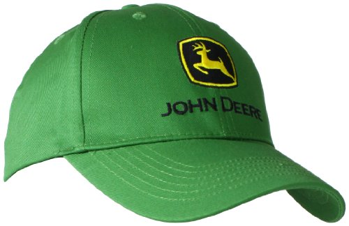 John Deere Embroidered Logo Baseball Hat - One-Size - Men's - John Deere Green ()