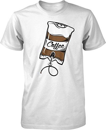 Coffee IV Bag, Caffeine, Expresso, Love Coffee, Cappuccino Men's T-shirt, NOFO Clothing Co. XXXL White (Senseo White Coffee Maker compare prices)