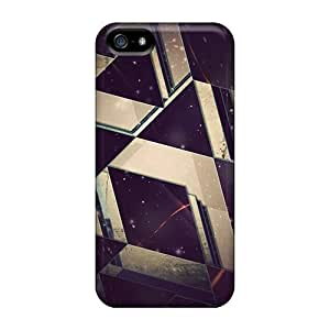 For AlexandraWiebe Iphone Protective Cases, High Quality For Iphone 5/5s Space Triangles Skin Cases Covers