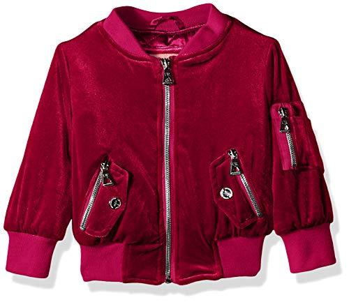 Urban Republic Big Girls Stretch Velvet Jacket, Berry, 16