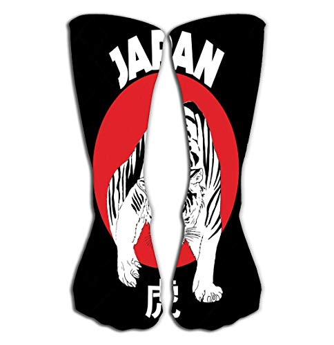 DeerLiKang Outdoor Sports Men Women High Socks Stocking Japanese Tiger Hand Drawn Bomber Jacket Printed Japanese Tiger Hand Drawn Tile Length 19.7