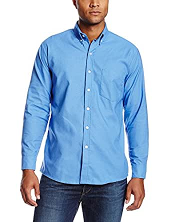 "Dickies Occupational Workwear SS36FB 145RG Polyester/ Cotton Men's Button-Down Long Sleeve Oxford Shirt, 14-1/ 2"" Regular Neck, French Blue"
