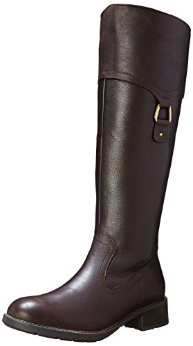 Riding Swansea Boot Brown Dark Clarks Women's Leather Bridge F1wSqSPxp