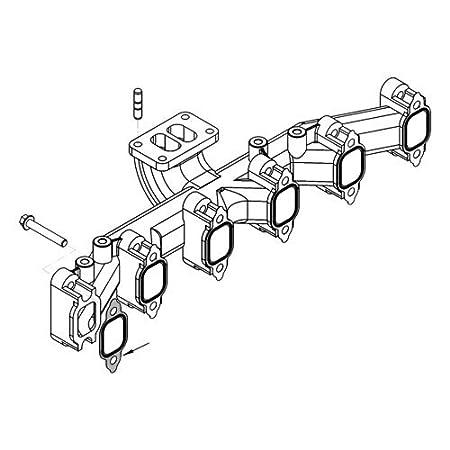 DieselTuff 4bt /& 6bt Laminated Exhaust Manifold Gasket Set compatible for 1984-98 Cummins 6bt Set