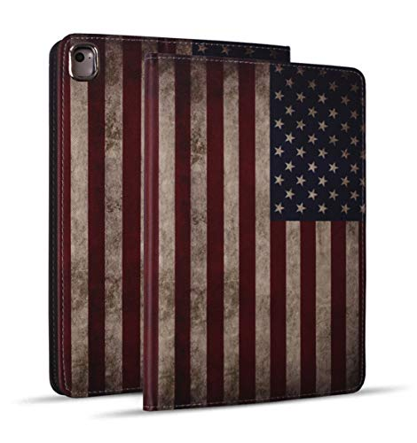 iPad Mini 5 Case, Mini 4 Case, iPad Mini 1/2/3 Case, Protective Leather Case, Adjustable Stand Auto Wake/Sleep Smart Case for iPad Mini 5th/4th Gen 7.9 inch - Vintage USA American Flag (American Flag I Pad Mini Case)