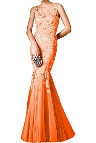 Braut mia Rosa Orange Brautmutterkleider Festlichkleider Dunkel Etuikleider Spitze Trumpet Formal Abendkleider La lang 4O5AwB