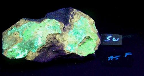 Fluorescent Andersonite w/ Orange Fluorescing Mineral SW & LW UV Specimen AF5
