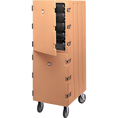 Cambro Double Compartment Food Cart for 18x26 Boxes Coffee Beige 1826DBC-157 (Coffee Beige Service Cart)