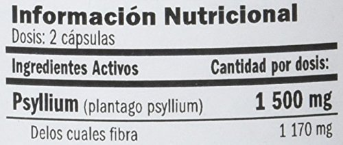 Amix Psyllium Husk Vitaminas & Minerales - 120 Cápsulas: Amazon.es: Salud y cuidado personal