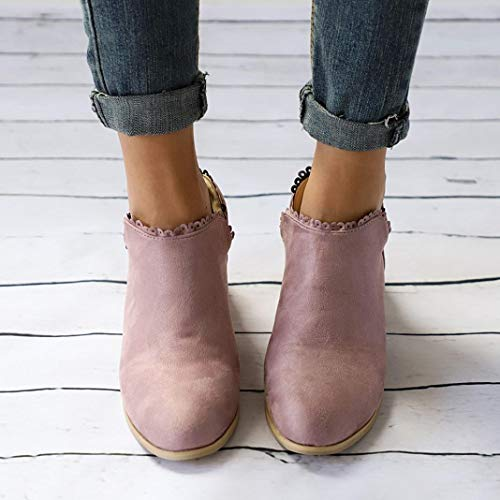 Casual Women Ankle Round Boots Fashion Toe Shoes Classic Martin Boots Women Pink Clearance vermers FzqPAA