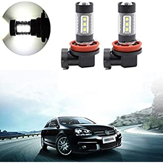 2pcs White 5050 SMD 18 LED 9006 HB4 9012 Car Fog Light Bulb Lamp SODIAL R