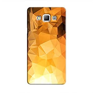 Cover It Up - Gold Sunrise Pixel Triangles Samsung Galaxy A7 Hard Case