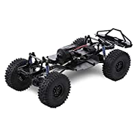 HUIFEIDEYU 313mm 12.3-inch wheelbase Assembled Frame Chassis for 1/10 RC Tracked Vehicles SCX10 SCX10 II 90046 90047 Second Generation Frame with tire