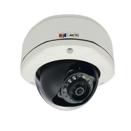 ACTi 3MP IR Day/Night Outdoor IP Dome Camera with Basic WDR, 2-Way Audio Support, & 2.93mm Fixed Lens E72