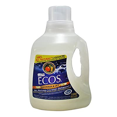 Earth Friendly Products Ecos Liquid Laundry Detergent, Magnolia & Lily, 100-Ounce Bottle