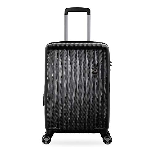 "SwissGear PolyCarb Hardside 19"" Carry-on Luggage Energie USB Port - Black"