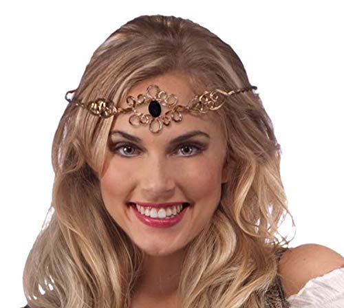 Forum Novelties Women's Medieval Crown Headpiece Costume Accessory, Gold, One Size ()