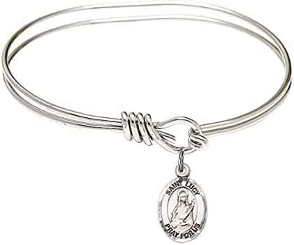 Robert Bellarmine Charm. DiamondJewelryNY Double Loop Bangle Bracelet with a St