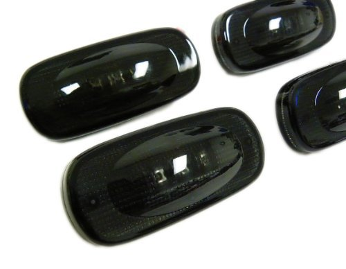 03 04 05 Black Racing (2003-2009 DODGE Ram 3500 SIDE MARKERS LED Fender Lights Assembly FSM 264131BK for RAM 3500 Dually Bed in SMOKED Lenses Black (4 Piece Pc Set Kit) 03 04 05 06 07 08 09 2003 2004 2005 2006 2007 2008 2009)