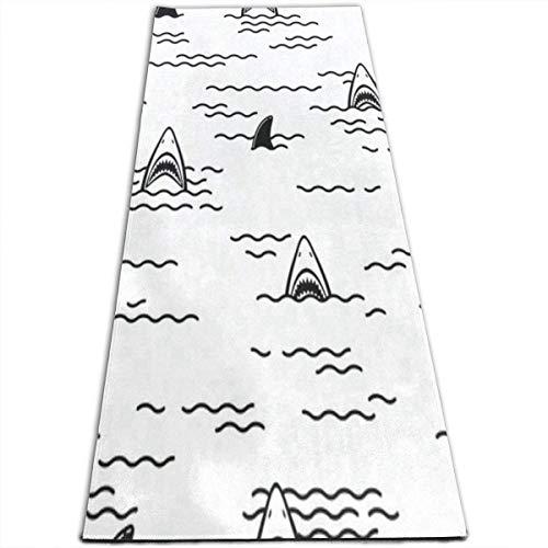 (lychi Ocean Sea Shark Fin Yoga Mat-All-Purpose High Density Non-Slip Exercise Stylish Yoga Mats for All Types of Yoga, Pilates & Floor Exercises (70