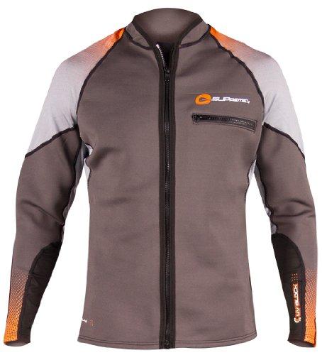 SUPreme Men's Reach 1.5mm Poly Hybrid Jacket, Light/Dark Gray, X-Large - Standup Paddleboarding, Kayaking & Water Sports