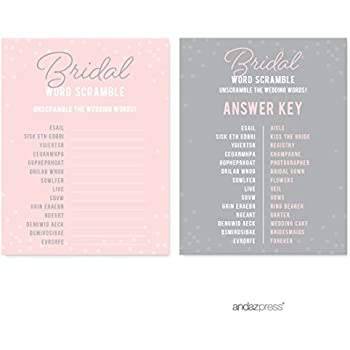 andaz press pink blush and gray pop fizz clink wedding collection wedding word scramble bridal