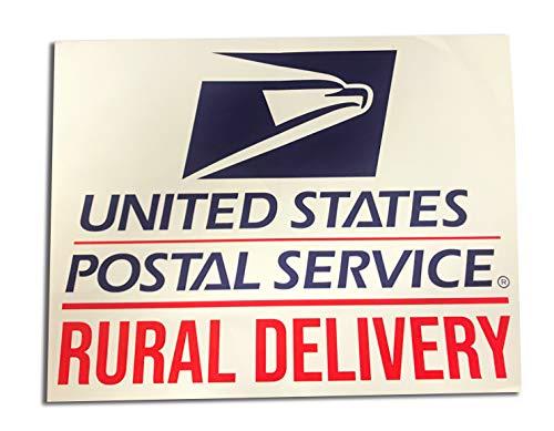 Usps Rural Carrier - Safety Supply Mart Rural Delivery Vinyl Sign for U.S. Mail, 9