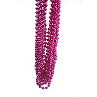 Hot Pink Metallic Beads 1 Dozen
