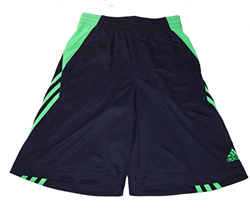Adidas Climalite Athletic Shorts, Black/Green, Size XL (18)