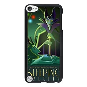 The best gift for Halloween and Christmas iPod 5 Case Black Art Deco Style Disney Maleficent Sleeping Beauty WYW8594415