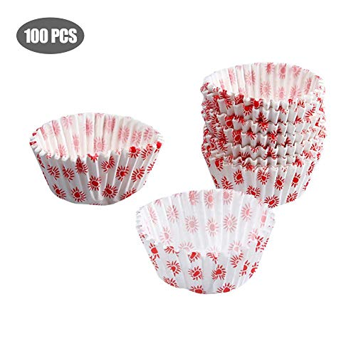 HOPEHY Mini Muffin Liners Disposable Cake Baking Paper Cup Suns Pattern Muffin Cookie DIY Bread Muffin Cup Baking Utensils Paper Cupcake Liners (Liners Sun Cupcake)