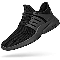 Feetmat Mens Tennis Shoes Ultra Lightweight Non Slip Sport Shoes Slip-On Sneakers for Boys Fashion Shoes Black Running Shoes Black 10M