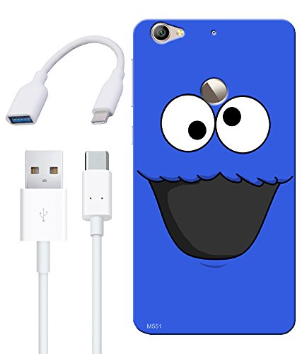 Combo Of Cool Wallpaper HD UV Printed Mobile Back Cover Charging Cable And OTG