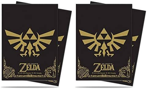 Standard Size 2-Pack Bundle ACS Pacific Supply 130 Ultra Pro The Legend of Zelda Black /& Gold Deck Protectors Sleeves