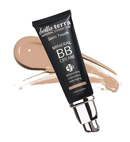 Bella Terra BB Cream 3-in-1 Tinted Moisturizer - Buildable Coverage - Light to Dark Skin Tones- with Natural SPF- Mineral Makeup Foundation- Hypoallergenic (1.69 Oz) (Light b 102)