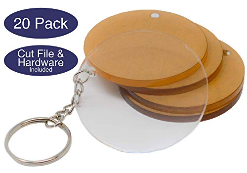 Vinyl Key Ring - Acrylic Circles with Hardware and Cut Files for Custom Keychains   Acrylic Keychain Blanks Various Colors and Sizes   1/8in Cast Acrylic   Made in The USA by My Local Maker
