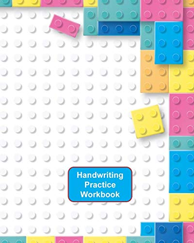 Handwriting Practice Workbook: Lego Bricks Cover - Letter Tracing - Full Alphabet Sheets With Pictures.  Improve Your Child's Writing Skills - Useful for All Ages