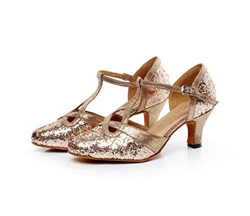 5 Jazz Salsa Talons Latine Modernes Eu32 uk2 Chacha Sandales Tango Rond md Paillettes Pour Danse Dors6cm Our33 Chaussures Samba De Bout Jshoe Femmes Hauts q1SCnZW4q