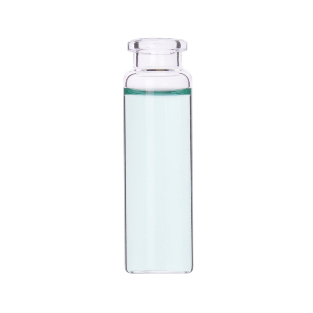 Wheaton W225283 Borosilicate Glass Clear Flat Bottom Headspace Vial, Beveled Finish, 20ml Capacity (Case of 100)