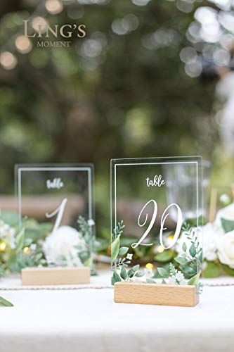 Ling's moment Acrylic Table Numbers for Wedding with